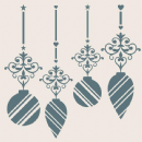 Creative Expressions Sentimentally Yours 8 x 8 Stencil - Elegant Ornaments by Phill Martin
